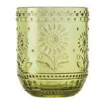 Conjunto-de-copos-de-vidro-flores-com-6-pecas-verde