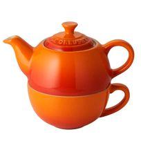 Bule-com-xicara-de-ceramica-Le-Creuset-laranja