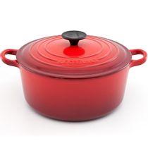 Panela-de-ferro-redonda-Le-Creuset-vermelha-22-cm