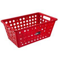Cesta-organizadora-de-plastico-Coza-vermelha-29-x-19-x-12-cm