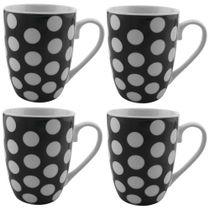 Caneca-de-porcelana-Dots-285-ml-branca-e-preta-com-4-unidadesCaneca-de-porcelana-Dots-285-ml-branca-e-preta-com-4-unidades
