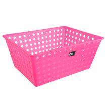 Cesta-organizadora-de-plastico-Coza-rosa-38-x-29-x-16-cm