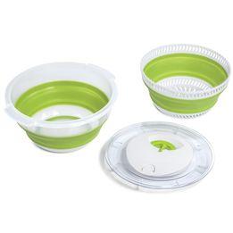 Seca-salada-flexivel-Sanremo-incolor-e-verde-28cm-
