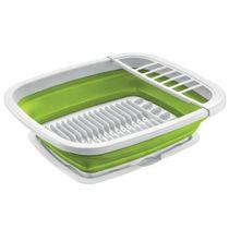 Escorredor-de-louca-flexivel-Sanremo-branco-e-verde-50-x-42-cm