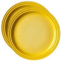 Conjunto-de-pratos-de-sobremesa-de-ceramica-Le-Creuset-amarelo-dijon-15-cm