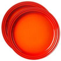 Conjunto-de-pratos-de-sobremesa-de-ceramica-Le-Creuset-laranja-15-cm