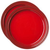 Conjunto-de-pratos-de-sobremesa-de-ceramica-Le-Creuset-vermelho-15-cm