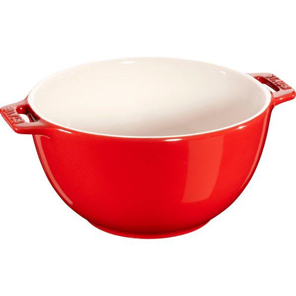 Bowl de Cerâmica com Alça Staub Vermelho Cereja 1,4L - 16236