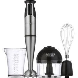 Hand-mixer-de-aco-escovado-Cuisinart-com-4-pecas-preto-e-prata