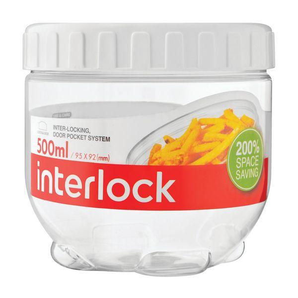 Pote-plastico-empilhavel-Lock---Lock-incolor-500-ml