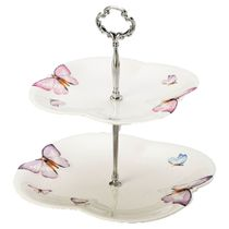 Prato-2-andares-porcelana-borboleta