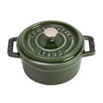 Mini-cocotte-de-ferro-redonda-Staub-verde-10-cm