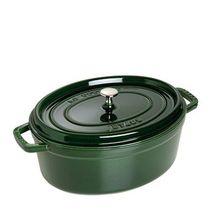 Cacarola-de-ferro-oval-Staub-verde-29-cm