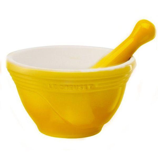 Pilão de cerâmica Le Creuset amarelo dijon 300mL - 17548