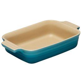 Travessa-de-ceramica-retangular-Le-Creuset-azul-caribe-26-cm