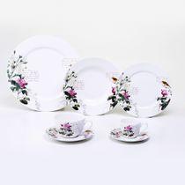 Aparelho-de-jantar-de-porcelana-Flowers-branco-42-pecas