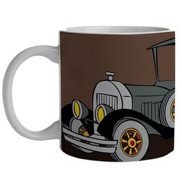 Caneca-de-porcelana-The-Car-of-Gangsters-marrom-300-ml---21311