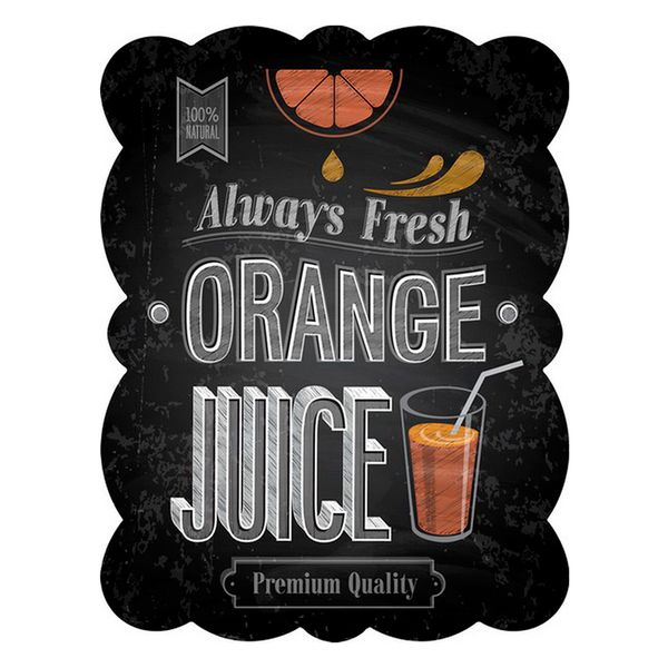 Placa-de-ferro-Orange-Juice-preta-33-x-25-cm---21382