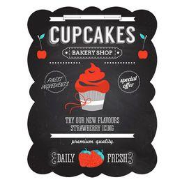 Placa-de-ferro-Cupcakes-preta-33-x-25-cm---21383