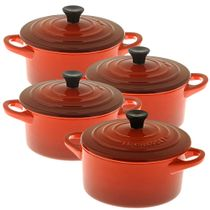 Mini-cocotte-de-ceramica-Le-Creuset-vermelha-4-pecas-300ml---21666