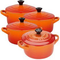 Mini-cocotte-de-ceramica-Le-Creuset-laranja-4-pecas-300-ml---21667