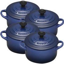 Mini-cocotte-de-ceramica-Le-Creuset-azul-cobalto-4-pecas-300-ml---21664