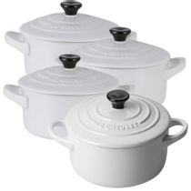 Mini-cocotte-de-ceramica-Le-Creuset-branca-4-pecas-300ml---21665
