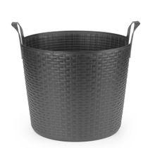 Cesta-flexivel-de-silicone-Bamboo-Arthi-preta-24-litros---21354