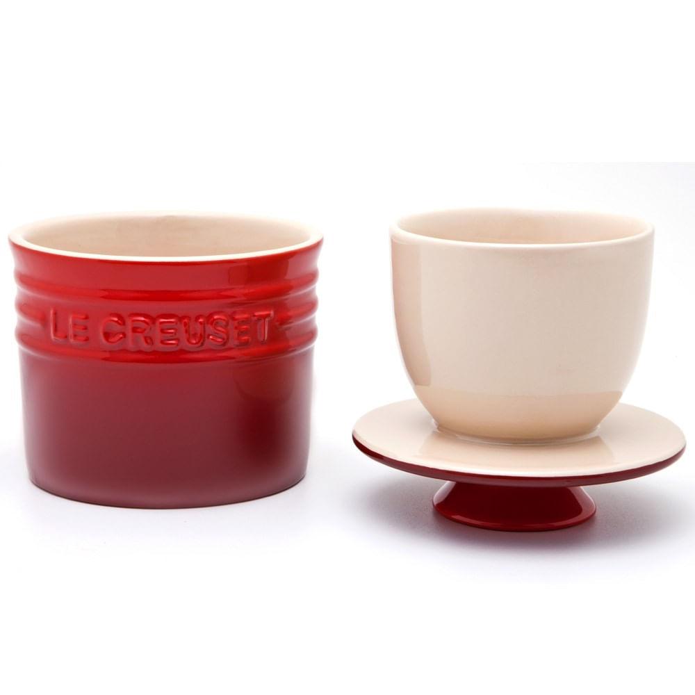 pote de cer mica para manteiga le creuset vermelha 150 ml 102185 utilplast. Black Bedroom Furniture Sets. Home Design Ideas