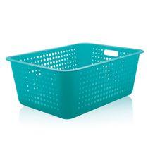 Cesta-organizadora-de-plastico-Ou-azul-turquesa-56-x-41-x-22-cm---23236