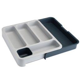 Organizador-de-plastico-para-talheres-expansivo-Joseph---Joseph-cinza-e-branco-36-x-29-cm---13519
