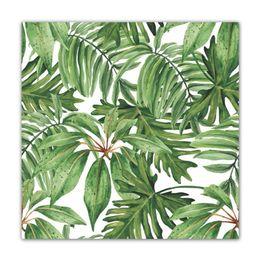 Guardanapo-de-algodao-Folhas-Tropical-verde-4-pecas-50-x-50-cm---23720