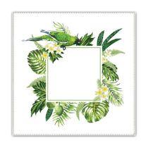 Guardanapo-de-algodao-Folhas-Tropical-verde-4-pecas-50-x-50-cm---23778