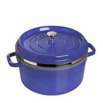 Panela-de-ferro-com-steamer-Staub-azul-marinho-26-cm---10570-