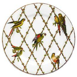 Prato-de-sobremesa-de-ceramica-Parrots-branco-6-pecas-20-cm---23882