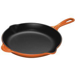 Frigideira-de-ferro-redonda-Skillet-Le-Creuset-laranja-20-cm---23922