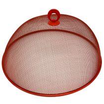 Cobre-bolo-de-metal-telado-Fackelmann-vermelho-35-cm---13454