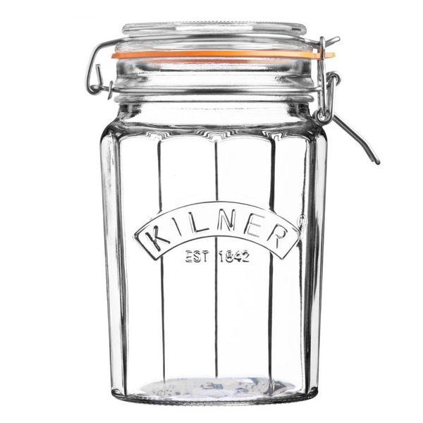 Pote-de-vidro-hermetico-Clip-Top-Facetado-Kilner-1-litro---24544