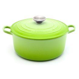 Panela-de-ferro-redonda-Le-Creuset-verde-kiwi-24-cm---376