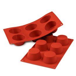 Forma-de-silicone-para-muffin-Silikomart-6-divisorias-vermelha-40-x-20-x-35-cm-–-25532