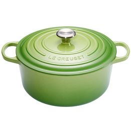 Panela-de-ferro-redonda-Signature-Le-Creuset-verde-palm-22-cm---25486