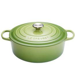 Panela-de-ferro-oval-Signature-Le-Creuset-verde-palm-27-cm---25484