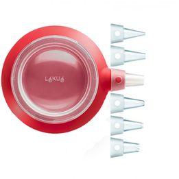 Caneta-para-confeitar-de-silicone-Lekue-vermelha-350-ml-6-bicos---25739-