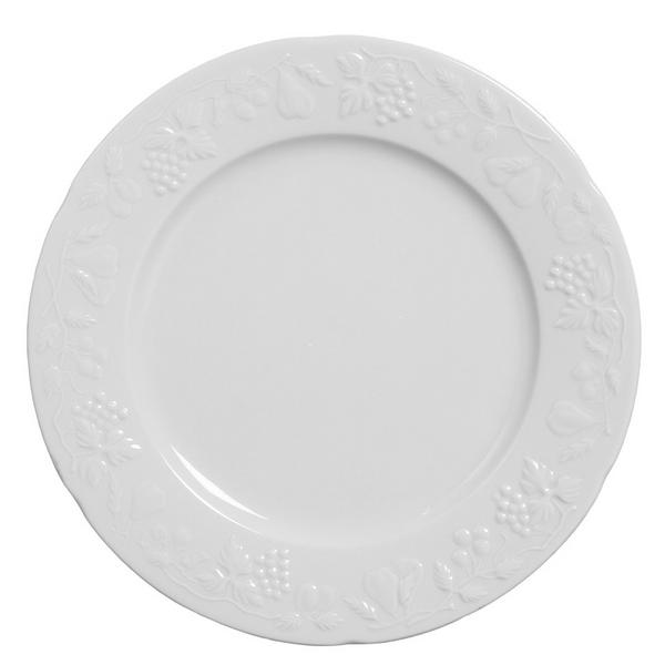 Prato raso de porcelana Summer Verbano branco 27CM - 14455 252ce04e4f395