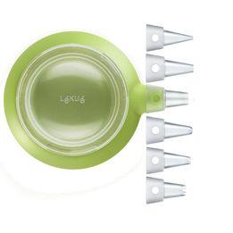 Caneta-para-confeitar-de-silicone-Lekue-verde-350-ml-6-bicos-–-25858-