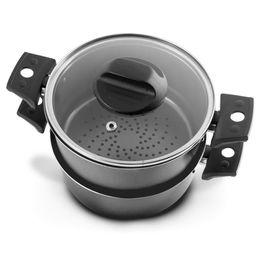 Cozi-vapor-antiaderente-Brinox-cinza-2-pecas-16-cm---26332