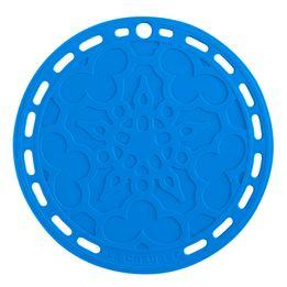 Descanso-de-panela-de-silicone-Mandala-Le-Creuset-azul-marseille-23-cm---25491