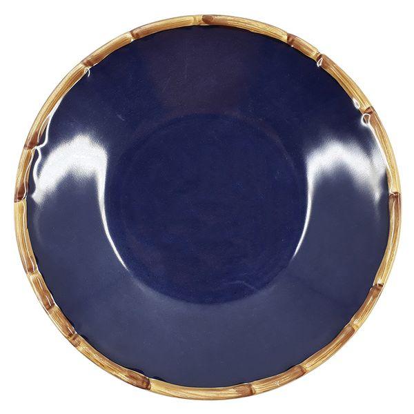 Prato fundo de cerâmica Maison Blanche azul 20CM - 28243