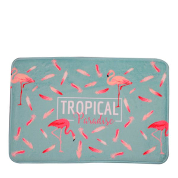 Tapete Trop Flamingo Poliéster 40X60CM - 29743