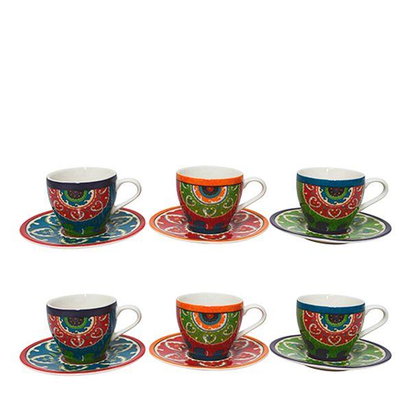 Xícara de Café Royal Suzani Porcelana 6 Peças 90ML - 102430